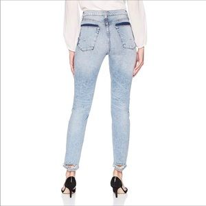 Hudson Jeans High Rise Zoeey Distressed Straight